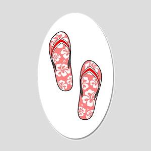 Red Flops 22x14 Oval Wall Peel