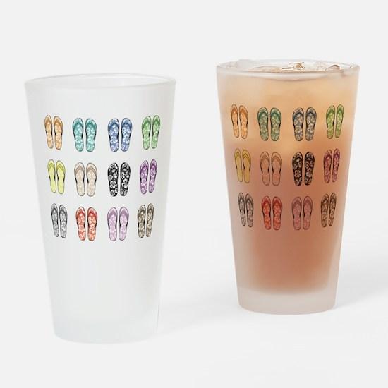 Flippin' Flops Drinking Glass