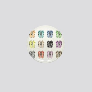 Flippin' Flops Mini Button