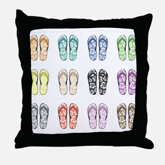 Flippin' Flops Throw Pillow