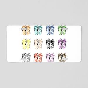 Flippin' Flops Aluminum License Plate
