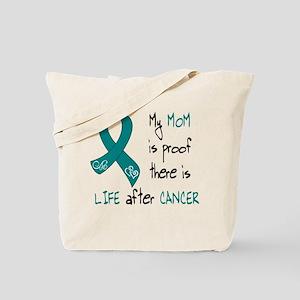 teal mom life Tote Bag