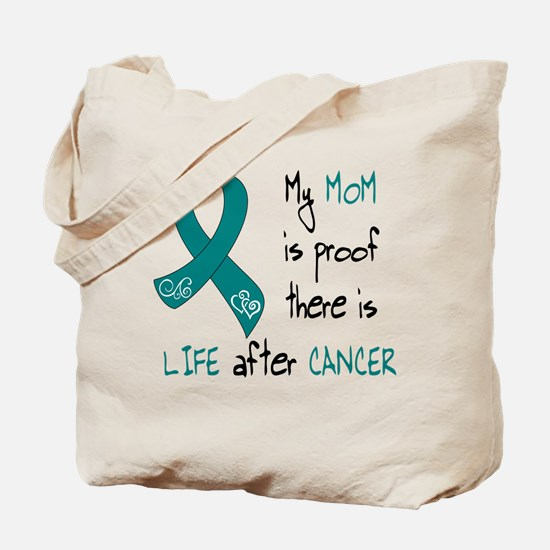 teal mom life.png Tote Bag