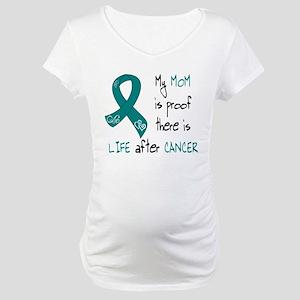 teal mom life Maternity T-Shirt