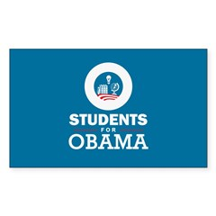 Students for Obama Sticker (Rectangle)
