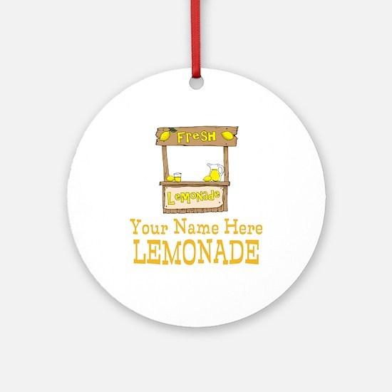 Lemonade Stand Round Ornament