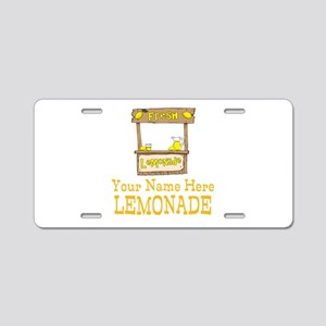 Lemonade Stand Aluminum License Plate