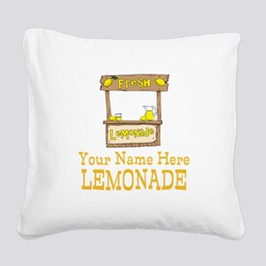 Lemonade Stand Square Canvas Pillow