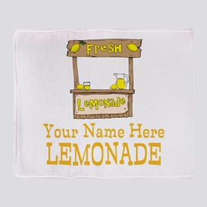 Lemonade Stand Throw Blanket