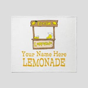 Lemonade Stand Throw Blanket
