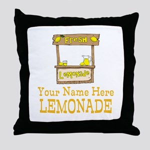 Lemonade Stand Throw Pillow