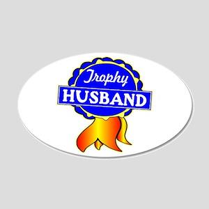 Trophy Husband Ribbon 22x14 Oval Wall Peel