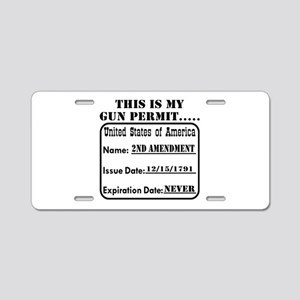 This Is My Gun Permit Aluminum License Plate