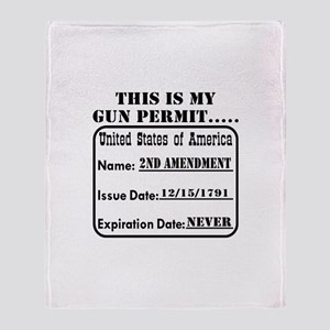 This Is My Gun Permit Throw Blanket