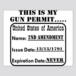 This Is My Gun Permit Small Poster