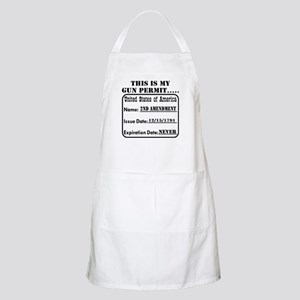 This Is My Gun Permit Apron