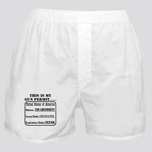 This Is My Gun Permit Boxer Shorts