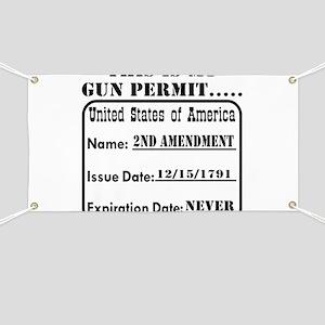 This Is My Gun Permit Banner
