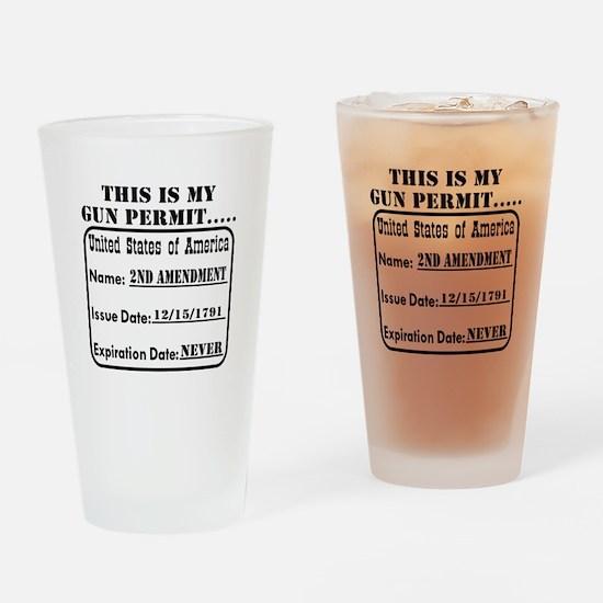 This Is My Gun Permit Drinking Glass