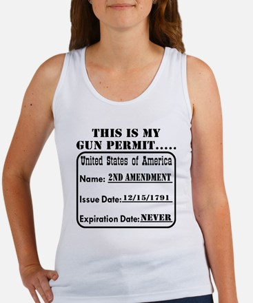 This Is My Gun Permit Women's Tank Top