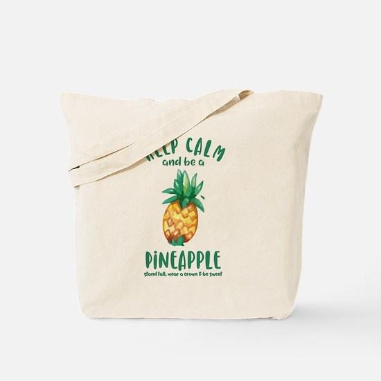 Keep Calm Pineapple Tote Bag
