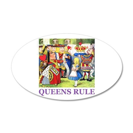 Queens Rule 38.5 x 24.5 Oval Wall Peel