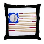 Patriotic Baseball Throw Pillow