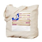 Patriotic Baseball Tote Bag