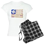 Patriotic Baseball Women's Light Pajamas