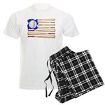 Patriotic Baseball Men's Light Pajamas