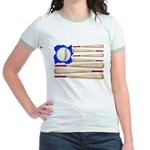 Patriotic Baseball Jr. Ringer T-Shirt