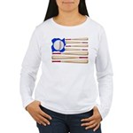 Patriotic Baseball Women's Long Sleeve T-Shirt