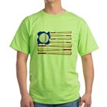 Patriotic Baseball Green T-Shirt