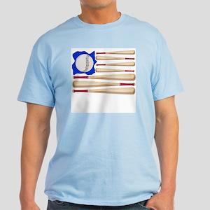 Patriotic Baseball Light T-Shirt