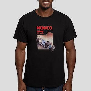 Monaco_final Men's Fitted T-Shirt (dark)