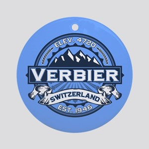 Verbier Blue Ornament (Round)