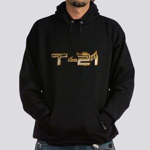 T-21 Metal on Fire Hoodie (dark)