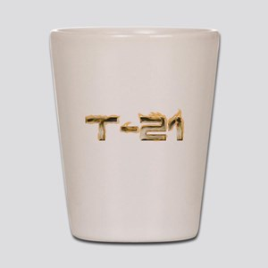 T-21 Metal on Fire Shot Glass