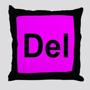 Del Throw Pillow Pink