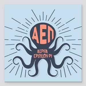 "Alpha Epsilon Pi Octopus Square Car Magnet 3"" x 3"""