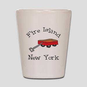 Fire Island Shot Glass