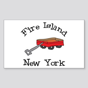 Fire Island Sticker (Rectangle)