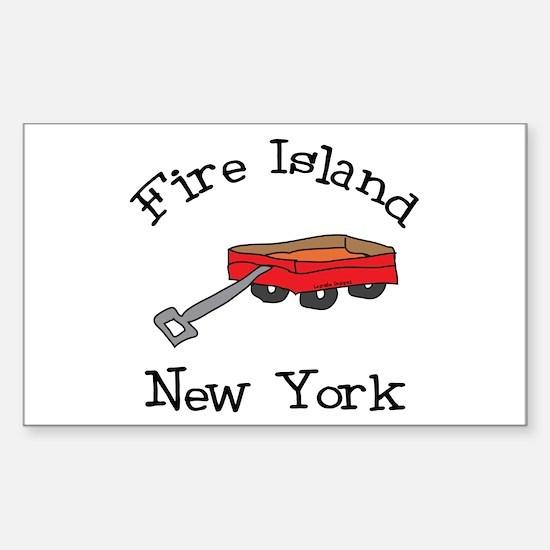 Fire Island Sticker (Rectangle)