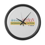 determinACTION Large Wall Clock