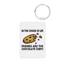Chocolate Chip Friends Aluminum Photo Keychain