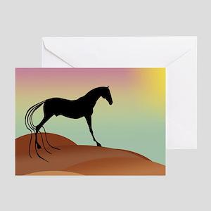 desert horse Greeting Cards (Pk of 10)