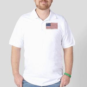 US flag vintage Golf Shirt