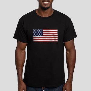 US flag vintage Men's Fitted T-Shirt (dark)