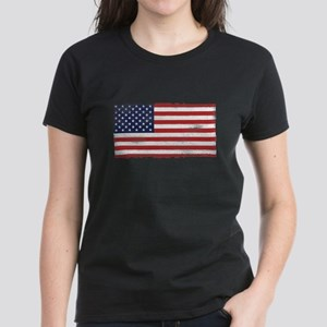 US flag vintage Women's Dark T-Shirt