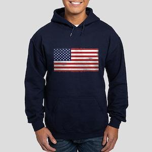 US flag vintage Hoodie (dark)